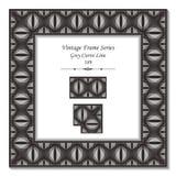 Quadro 189 Grey Curve Line do vintage 3D Fotos de Stock