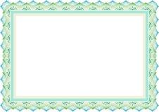 Quadro - guiloche do molde da beira & estilo islâmico ilustração stock