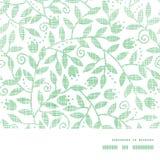 Quadro horizontal de matéria têxtil das folhas e dos redemoinhos Fotos de Stock Royalty Free