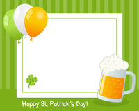 Quadro horizontal do dia de St Patrick s Foto de Stock Royalty Free