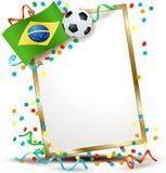 Quadro indicador brasileiro, tema do futebol Fotografia de Stock Royalty Free