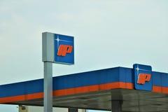 Quadro indicador da empresa petrol?fera italiana ?IP ? fotos de stock royalty free