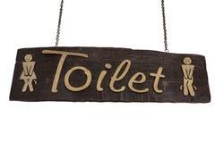 Quadro indicador da madeira do toalete Fotografia de Stock Royalty Free