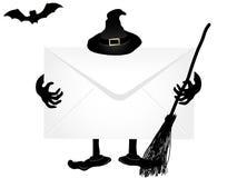 Quadro indicador de Halloween ilustração royalty free