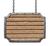 Quadro indicador de madeira das pranchas da taberna medieval Foto de Stock Royalty Free