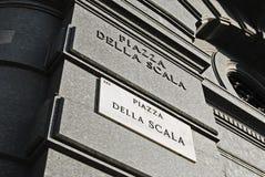 Quadro indicador de Scala do della da praça Fotografia de Stock Royalty Free