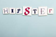 Quadro indicador do moderno Palavra escrita à mão das letras das cores Luz - backgr azul imagens de stock royalty free