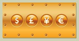 Quadro indicador do ouro ilustração do vetor