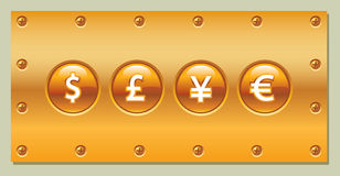 Quadro indicador do ouro Foto de Stock Royalty Free