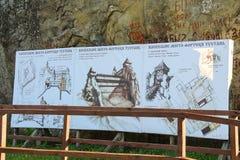 Quadro indicador na reserva histórica e cultural Fotografia de Stock