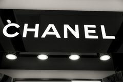 Quadro indicador proprietário Chanel fotografia de stock royalty free