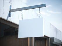 Quadro indicador quadrado vazio rendição 3d Fotografia de Stock