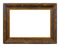 Quadro isolado da foto, quadro antigo de madeira da foto imagens de stock
