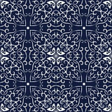 Quadro japonês azul sem emenda da cruz da curva da espiral do fundo Imagem de Stock