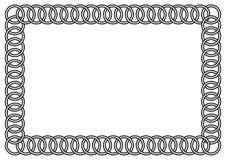 Quadro ligado dos anéis Imagens de Stock