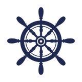 Quadro marítimo do timon do navio ilustração royalty free