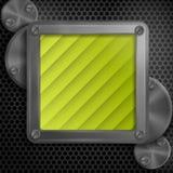 Quadro metálico com parafusos Imagem de Stock Royalty Free