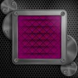 Quadro metálico com parafusos Fotografia de Stock