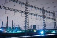 quadro metálico do central elétrica urbano Imagem de Stock