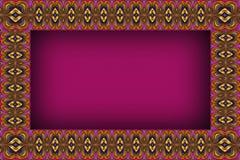 Quadro modelado roxo Imagens de Stock