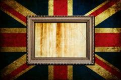 Quadro na bandeira de Inglaterra Foto de Stock Royalty Free