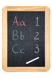 Quadro-negro ABC/123 Imagem de Stock
