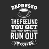 Quadro-negro com citações sobre o café Fotografia de Stock Royalty Free