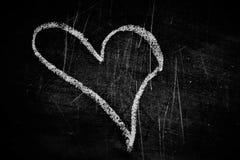 Quadro-negro com coração branco Imagem de Stock
