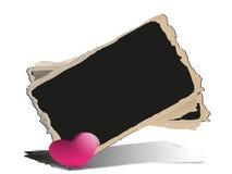 Quadro-negro com corações. Fotos de Stock
