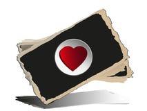 Quadro-negro com corações. Fotografia de Stock Royalty Free