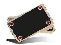 Quadro-negro com corações. Imagem de Stock
