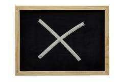 Quadro-negro com cruz Fotografia de Stock Royalty Free