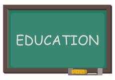 Quadro-negro com educação da palavra Ilustração Stock