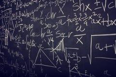 Quadro-negro com fórmula da matemática Fotos de Stock Royalty Free