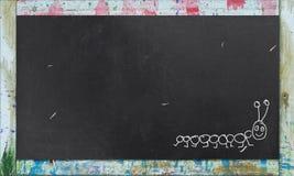 Quadro-negro com frame colorido imagens de stock
