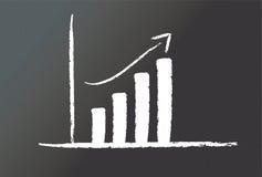 Quadro-negro com um gráfico Imagem de Stock