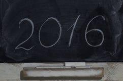 Quadro-negro da ardósia com a inscrição 2016 Imagem de Stock