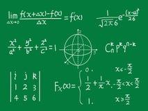 Quadro-negro da classe da matemática ilustração do vetor