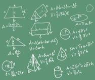 Quadro-negro da matemática Imagens de Stock Royalty Free