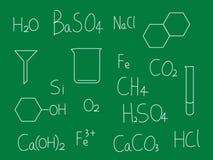 Quadro-negro da química ilustração do vetor