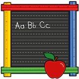 Quadro-negro da régua do ABC Fotografia de Stock Royalty Free