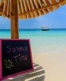 Quadro-negro das horas de verão Foto de Stock Royalty Free