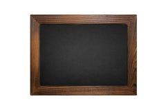 Quadro-negro de madeira do quadro isolado no branco Fotos de Stock