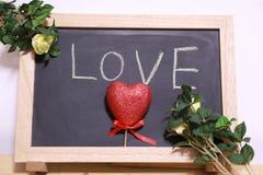 Quadro-negro do amor Foto de Stock Royalty Free