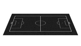 Quadro-negro do campo de futebol da perspectiva Fotos de Stock Royalty Free