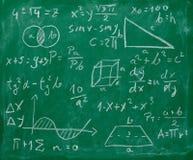 Quadro-negro do quadro da fórmula da matemática da matemática fotos de stock royalty free