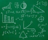 Quadro-negro do quadro da fórmula da matemática da matemática fotos de stock