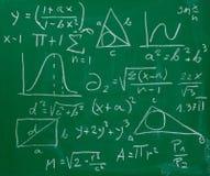 Quadro-negro do quadro da fórmula da matemática da matemática fotografia de stock