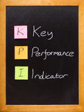Quadro-negro do indicador de desempenho chave de KPI imagem de stock royalty free