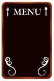 Quadro-negro do menu Imagens de Stock Royalty Free